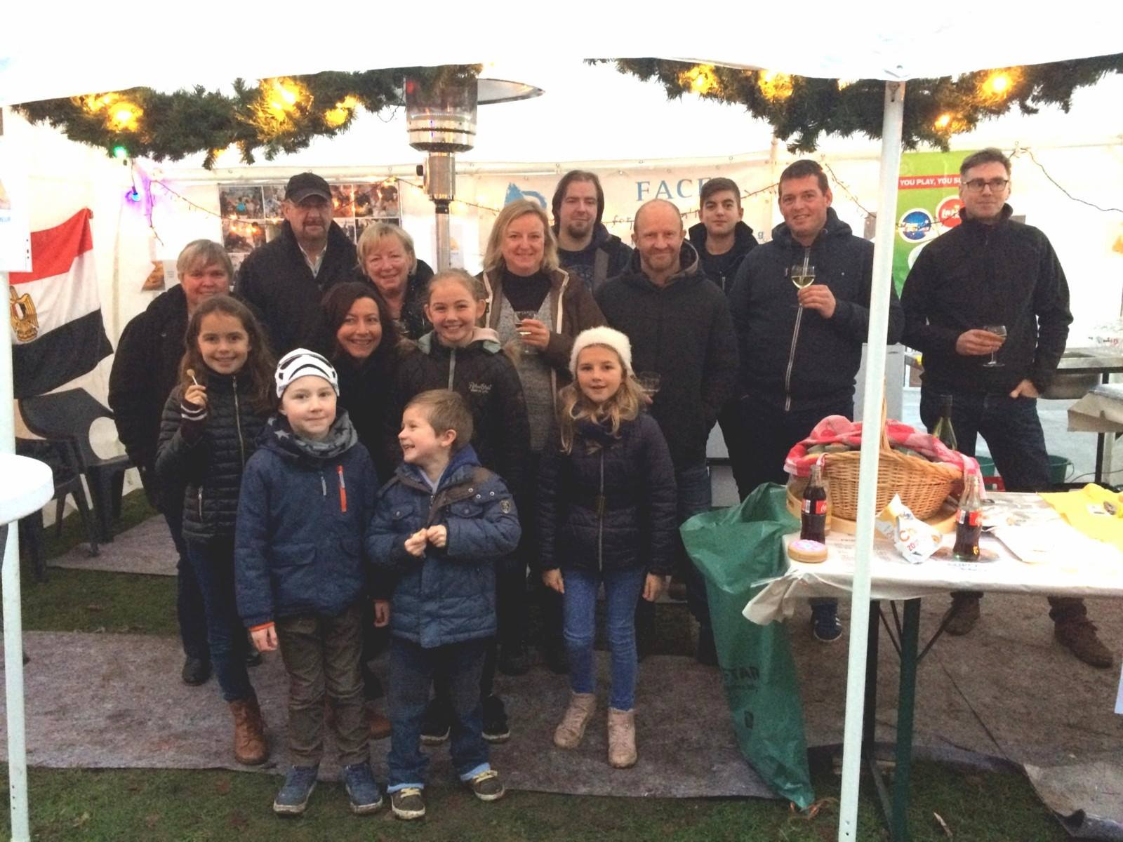 "Belgian ""Friends of FACE"" participated at the Christmas Market in Berlare"