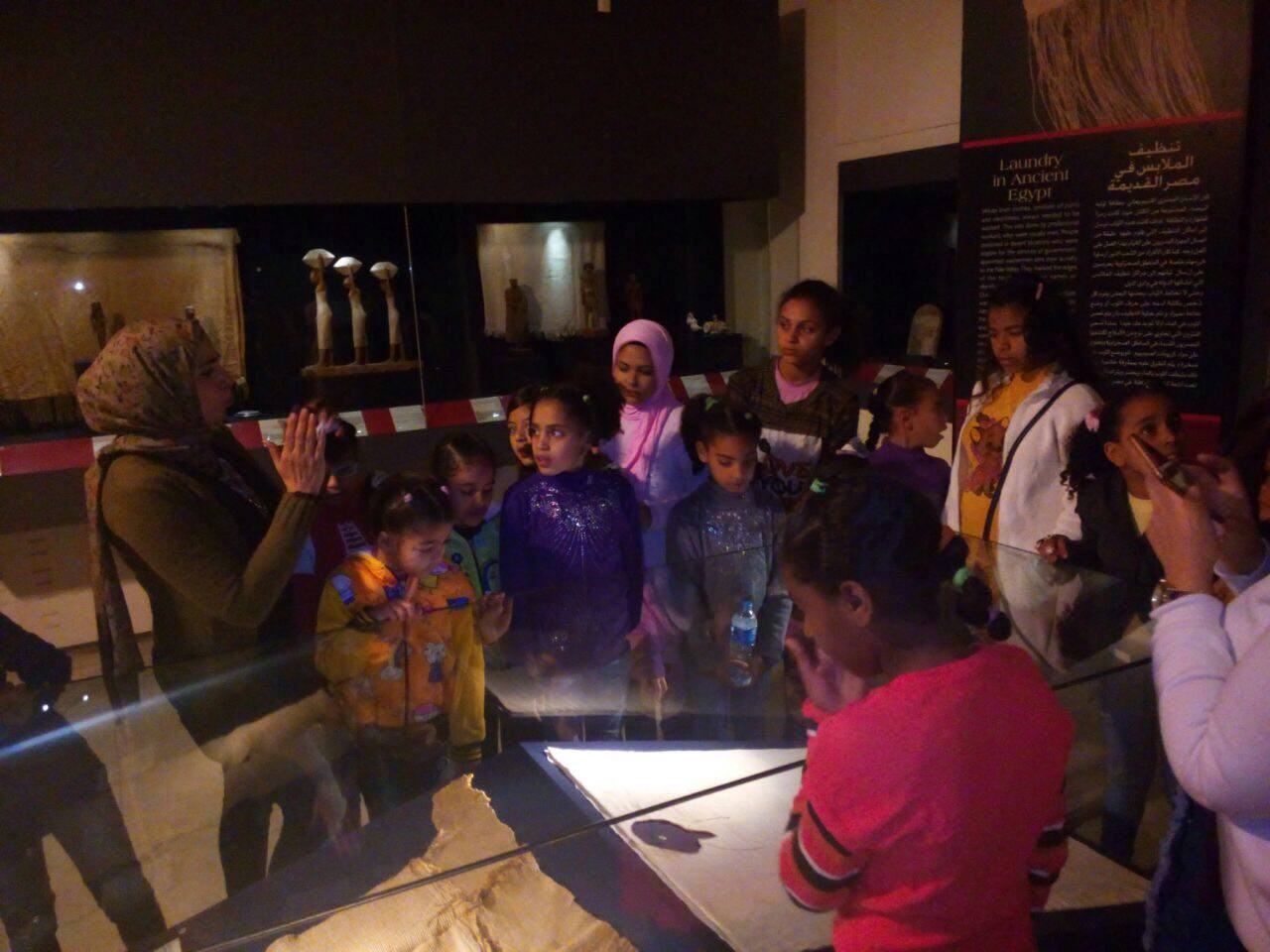 Egyptian Textile Museum special visit for the FACE children